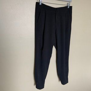 Vince Black Tapered Trousers Elastic Ankle Size 4